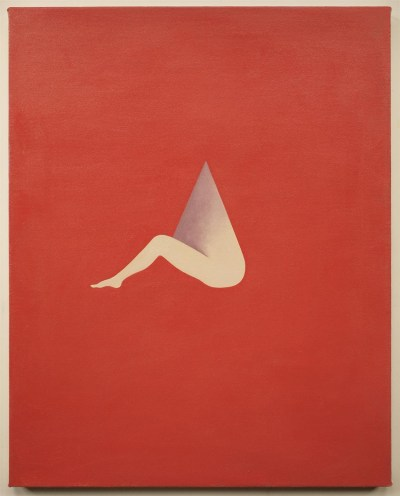 """Alice Tippit. """"Needle,"""" 2015. Oil on canvas, 24 x 20 inches."""