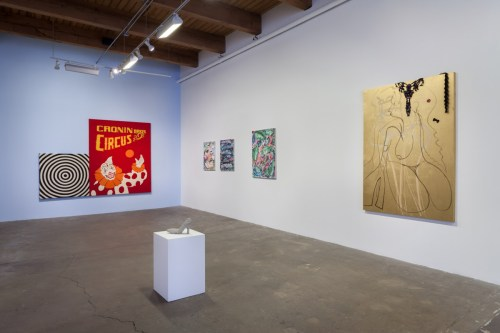 """Installation view of """"By Hand"""" at Carrie Secrist Gallery, Spring 2016."""