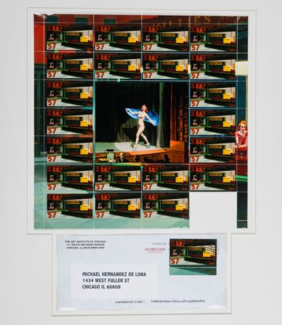 """Michael Hernandez de Luna. """"The Diner is Closed and Becoming a Massage Parlor (Homage to Edward Hopper)"""""""