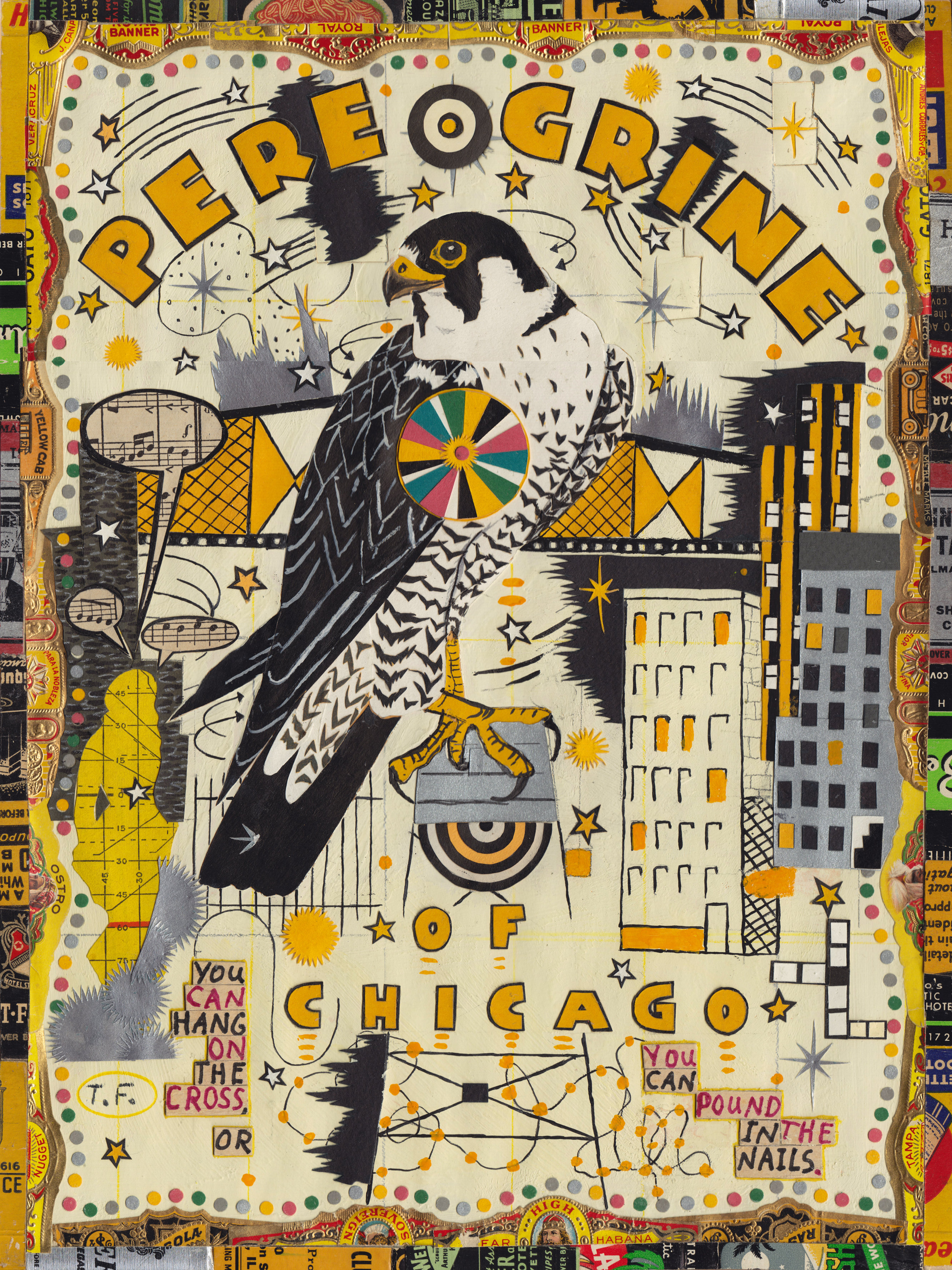 Color printing depaul - Nostalgia For The Small Mean World Of The City A Review Of Tony Fitzpatrick At The Depaul Art Museum