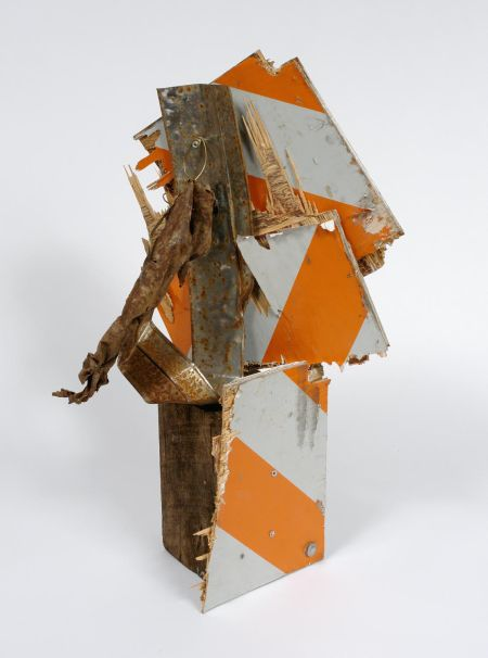 """Lonnie Holley, """"Working on Milwaukee Avenue,"""" 2007. Mixed media, 28 x 14 x 14 inches"""