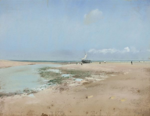 """Edgar Degas, """"Beach at Low Tide (Mouth of the River),"""" 1869."""