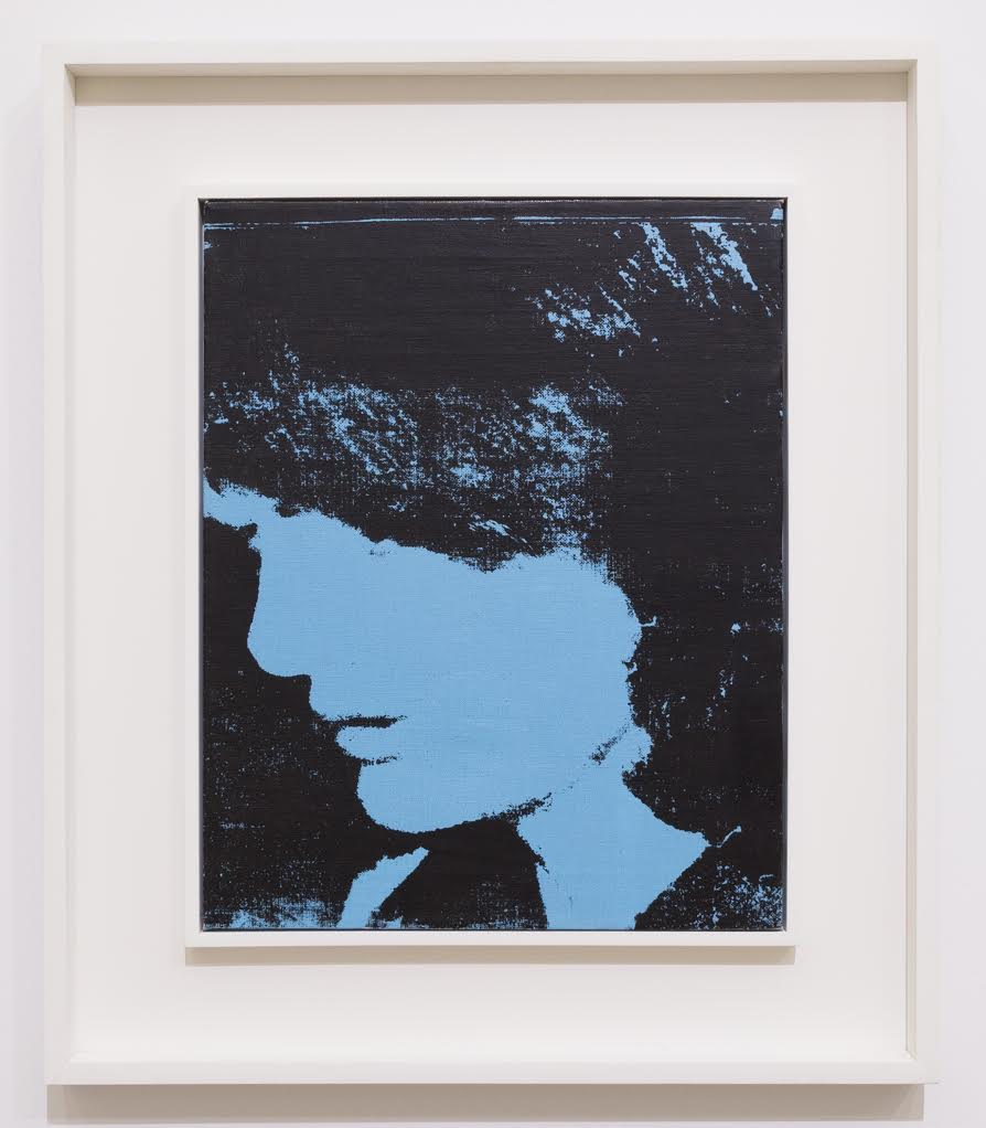 "Andy Warhol, ""Jackie,"" 1964. Synthetic polymer and silkscreen inks on canvas, 20 x 16 inches"