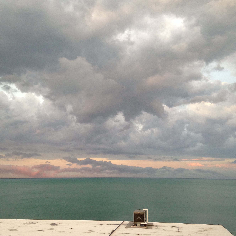 """Lisa Barense/@loyola_condenser, """"Condenser under Green Sky,"""" 2016"""