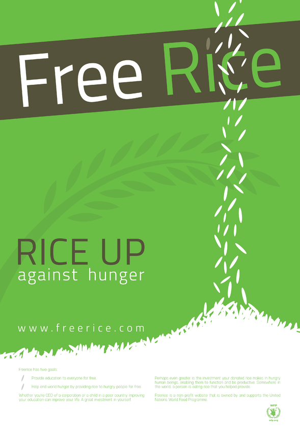 Free Rice Poster By Decky On Newgrounds