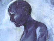 "detail of Warren Croce's painting ""Steamroom"""