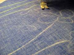 Stitching lines drawn with tailors' chalk