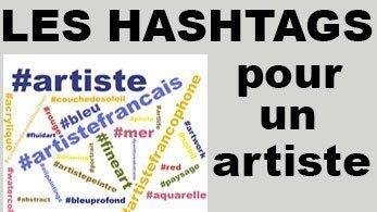 les hashtags pour artiste