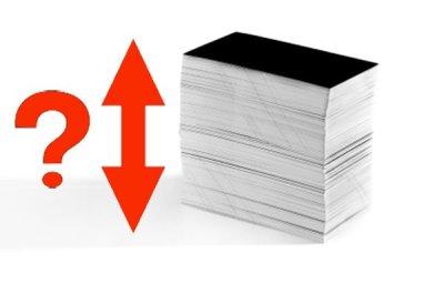 Combien imprimer de cartes de visite