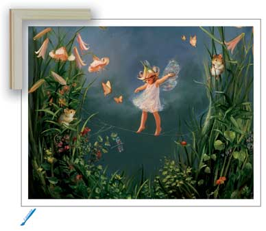 Image result for pond woodland animals painting fairies