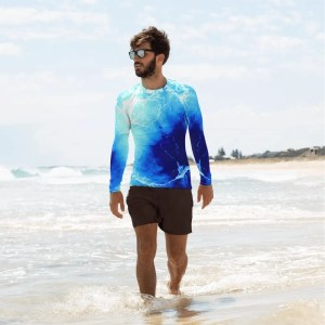Warm Ocean. Men's Rash Guard