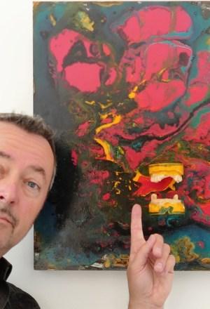 Vortex exposition artiste peintre francis octobre a la galerie art 52 royan