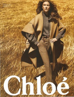 Kasia Struss for Chloe Fall 2009 by Mikael Jansson