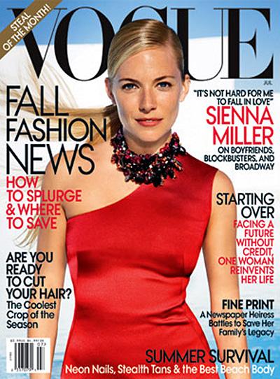 Sienna Miller Vogue US July 2009 by Mario Testino