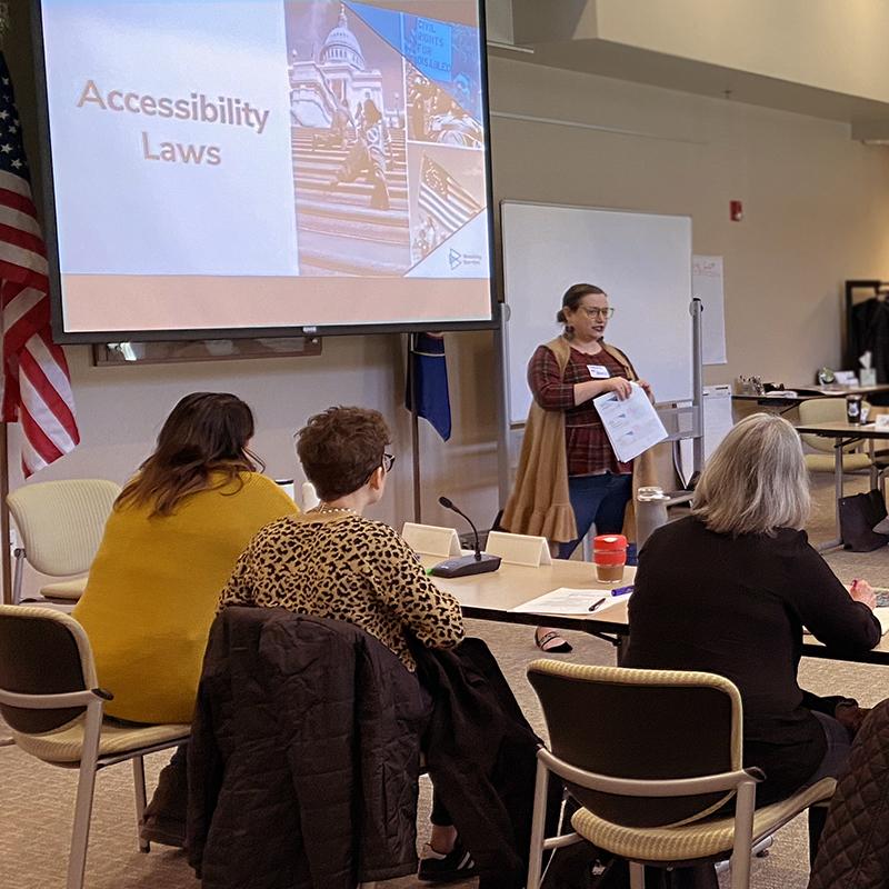 Shandra Benito teaching a Breaking Barriers workshop.