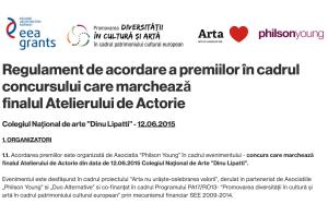 Regulament de acordare a premiilor pentru concursul Atelierului de Actorie