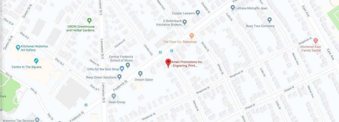 Map Location Artals Promotions Inc