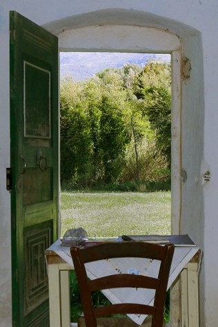 View from the inside of Agia Paraskevi next to the Labyrinth