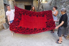 We also researched traditionally woven blankets