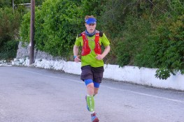 British long distance runner John Melbourne arriving in Gerakari. John finished first at the Heroes Ultra 2016 race that followed the tracks of Cretan partisans after they abducted Nazi General Kreipe. In retaliation the Nazis burned those villages down. They are the same Hadas photographed for her project.