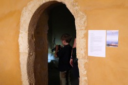 Dimitra Maltabe created an installation in a monk's cell at the Arkadi monastery