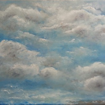 """Play of clouds"" oil on canvas, 40x50 cm"