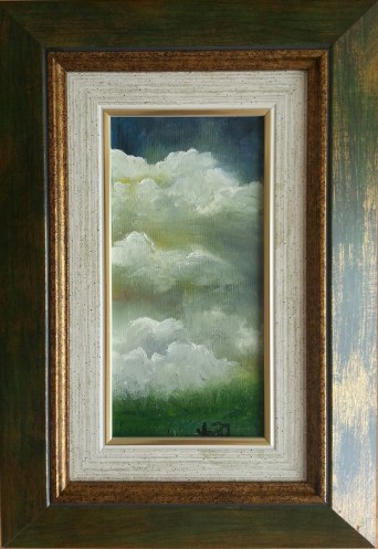 """Sky 2"" oil on canvas, 20x10 cm. Sold."