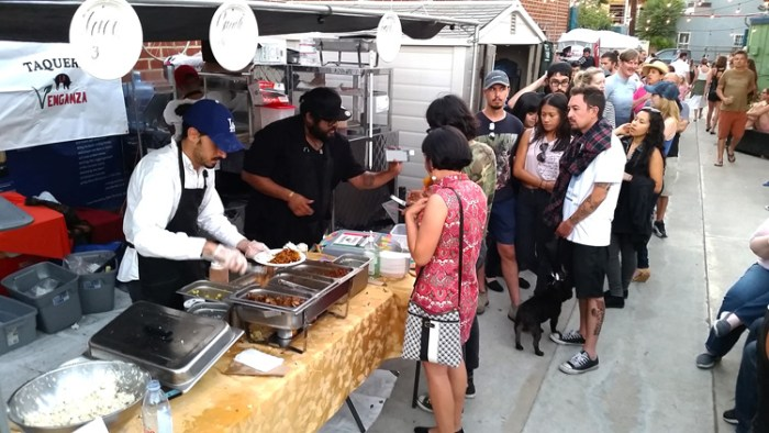 Taqueria Venganza was one of the local vendors who set up a food stand for the day. (Photo credit Patrick Quinn)