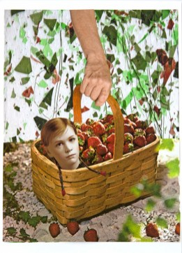 Basket of Hope, 2016 Collage on archival pigment print (Courtesy of the artist and GAVLAK Los AngelesPhoto Credit: LeeAnn Nickel)