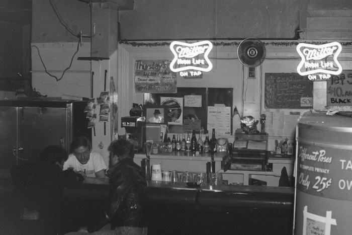 Interior of AL's Bar in the early 1980's. Image courtesy of Stephen Seemayer.