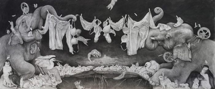 "Adonna Khare ""Between the Lines"" at Lora Schlesinger Gallery"