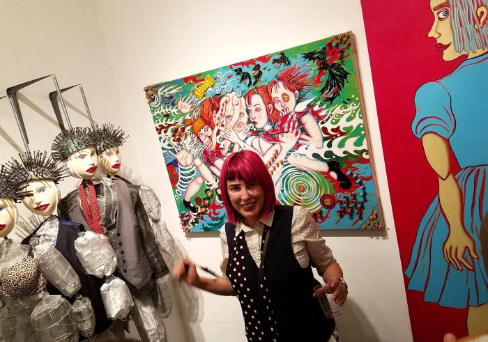 Bibi Davidson. The Girl in the Red Dress at Los Angeles Art Association/Gallery825. Photo credit Kristine Schomaker