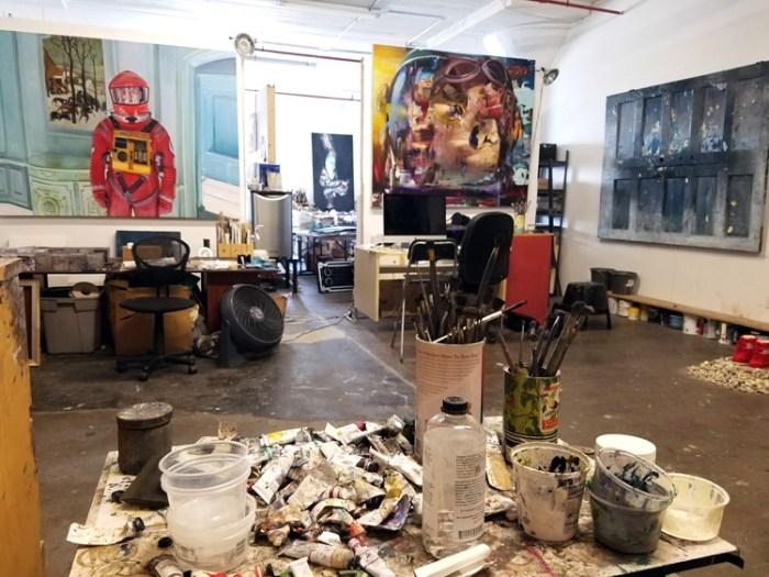 Josh Hagler's Studio in the Arts District, DTLA. Photo Credit Kristine Schomaker