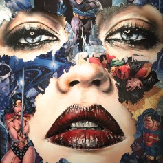LA CAGE ET CEUX QUI RESTENT DEBOUT, Sandra Chevrier ©2016 Thinkspace Gallery, Photo credit- JulieFaith, All rights reserved.