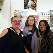 Kristine Schomaker, Chenhung Chen, Diane Williams. Final MAS Attack at the Torrance Art Museum. Photo Credit Kristine Schomaker