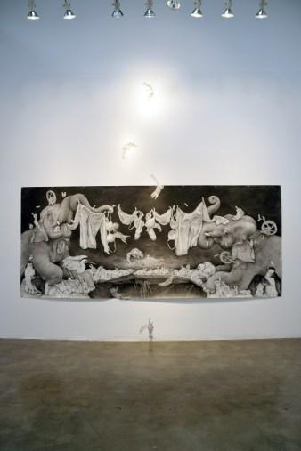 ADONNA KHARE. Between the Lines at Lora Schlesinger Gallery. Photo Credit Kristine Schomaker
