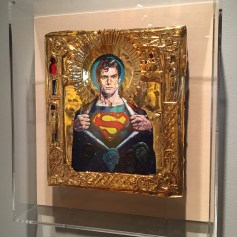 Ironic Icons: The Art of Valentin Popov, St. Superman. Photo Credit Amy Kaeser.