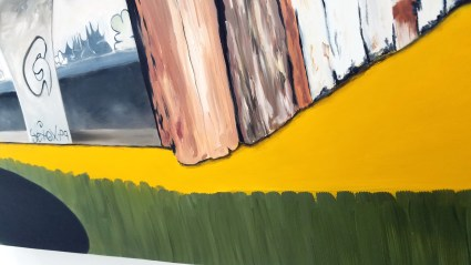 Telic Forces. (detail) Lisa Adams, Petrichor at CB1 GalleryLisa Adams, Petrichor at CB1 Gallery. Photo Credit Jacqueline Bell Johnson.