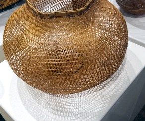 Contemporary Japanese Basketry at TAI Modern. Palm Springs Art Fair 2017, February 16-18, 2017 at the Palm Springs Convention Center. Photo Credit Jacqueline Bell Johnson.