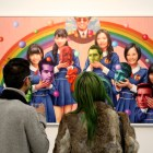 Alex Gross, The Cock, Corey Helford Gallery Photo credit- JulieFaith ©2017, All rights reserved.