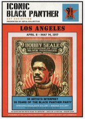 ICONIC: Black Panther. Gregorio Escalante Gallery, Los Angeles, CA. Shepard Fairey Poster Poster. Photo Courtesy of Sepia Collective and The Artist.