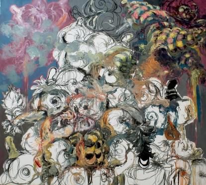 """Angel Ricardo Ricardo Rios. The Mountain of Contents, Oil on canvas, 107x120"""", 2014. Photo credits: Angel Ricardo Ricardo Rios."""