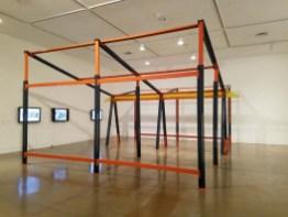 "Estudio Teddy Cruz + Forman. California-Pacific Triennial, ""Building as Ever,"" curated by Cassandra Coblentz, at the Orange County Museum of Art, Newport Beach, California. Photo Credit Kristine Schomaker."