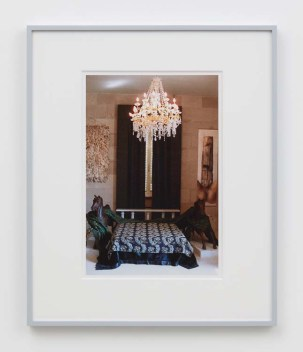 """William E. Jones """"Villa Iolas (Iolas's Bedroom),"""" 1982/2017 hand-coated inkjet print 20 x 16 inches (50.8 x 40.6 cm) framed: 24 x 20 x 1 1/2 inches (61 x 50.8 x 3.8 cm) Edition of 6 with 2 AP Photography: Lee Thompson Courtesy of David Kordansky Gallery, Los Angeles, CA and The Modern Institute, Glasgow, Scotland"""