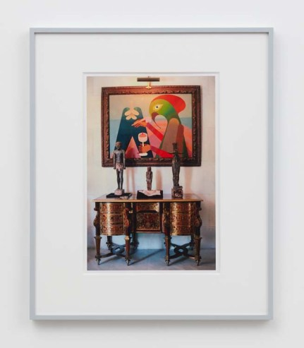 """William E. Jones """"Villa Iolas (Victor Brauner, Egyptian Sculpture),"""" 1982/2017 hand-coated inkjet print 20 x 16 inches (50.8 x 40.6 cm) framed: 24 x 20 x 1 1/2 inches (61 x 50.8 x 3.8 cm) Edition of 6 with 2 AP Photography: Lee Thompson Courtesy of David Kordansky Gallery, Los Angeles, CA and The Modern Institute, Glasgow, Scotland"""