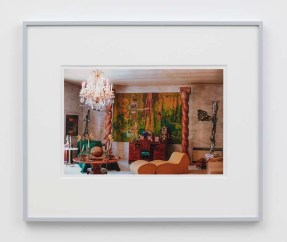 """William E. Jones """"Villa Iolas (Matta, Les Lalannes, Yves Klein),"""" 1982/2017 hand-coated inkjet print 16 x 20 inches (40.6 x 50.8 cm) framed: 20 x 24 x 1 1/2 inches (50.8 x 61 x 3.8 cm) Edition of 6 with 2 AP Photography: Lee Thompson Courtesy of David Kordansky Gallery, Los Angeles, CA and The Modern Institute, Glasgow, Scotland"""