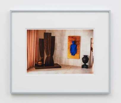 """William E. Jones """"Villa Iolas (René Magritte, Yves Klein, Man Ray),"""" 1982/2017 hand-coated inkjet print 16 x 20 inches (40.6 x 50.8 cm) framed: 20 x 24 x 1 1/2 inches (50.8 x 61 x 3.8 cm) Edition of 6 with 2 AP Photography: Lee Thompson Courtesy of David Kordansky Gallery, Los Angeles, CA and The Modern Institute, Glasgow, Scotland"""