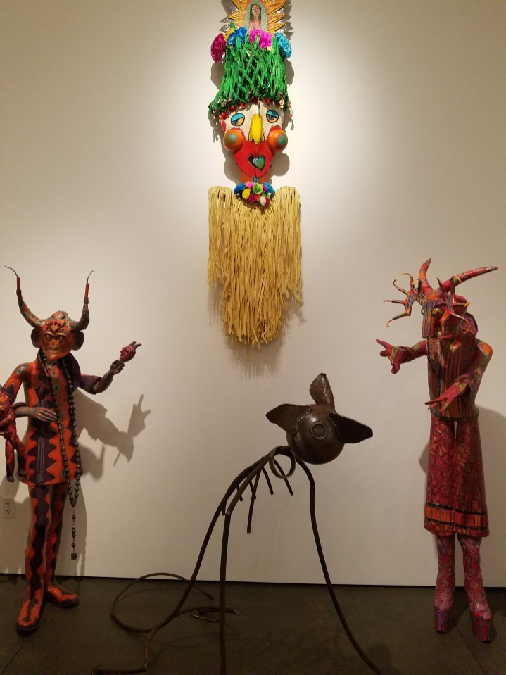 Carnivale Seekers Gallery view. Dee Marcellus Cole and Carnival Seekers. Claremont Museum of Art. Photo Credit Jacqueline Bell Johnson.