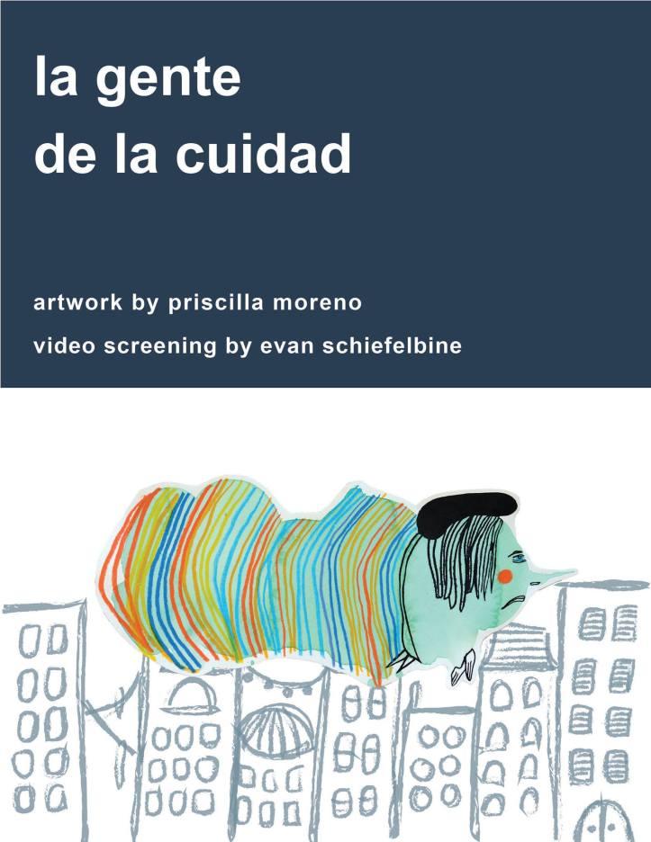 Priscilla Moreno and Evan Schiefeilbine, La Gente de la Ciudad , Hibbleton Art Gallery; poster courtesy of the gallery