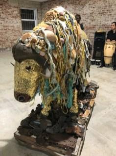 Musk Ox by Emily Maddigan in Salvage at Art Exchange Exhibition Space; Photo credit Genie Davis